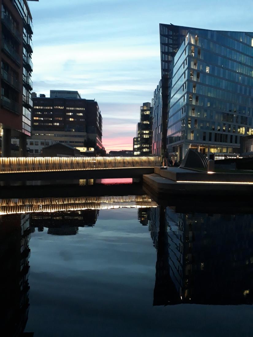 Sunset over Merchant's Square, Paddington, London