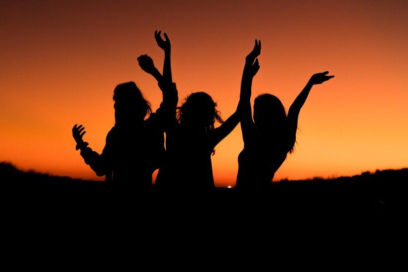 Dance sunset woman