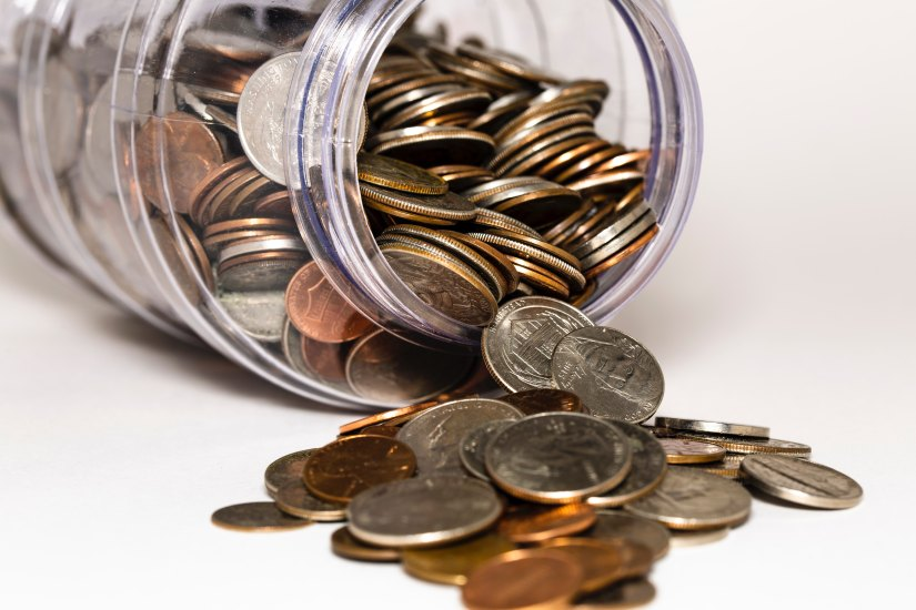 Coin jar savings personal finance